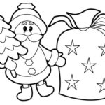 Coloriage : La Hotte du Père Noël