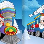 Jeu des 7 Différences : Le Train du Père Noël